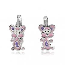 Dětské stříbrné náušnice - Malé myšky