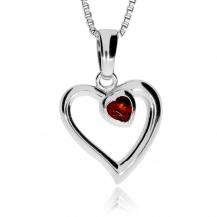 Stříbrný přívěsek - Dvě srdce