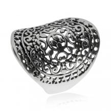 Stříbrný prsten - Kulatý ornament