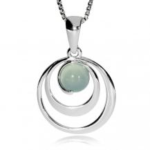 Stříbrný přívěsek - Achát aqua ve spirále