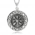 Stříbrný přívěsek - Vikingský kompas Vegvisir