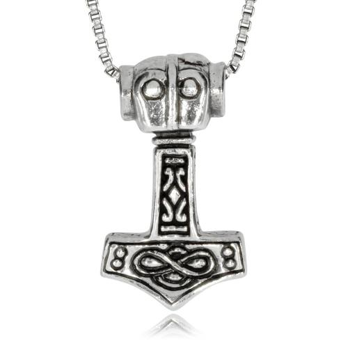 Stříbný přívěsek - Amulet Thorovo kladivo