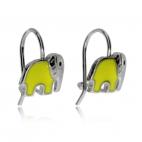 Dětské stříbrné náušnice - Sloníci na háčku