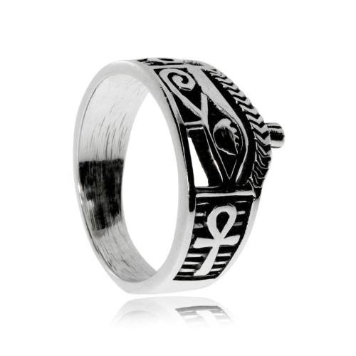 Stříbrný prsten - Egyptský motiv\nStříbrný prsten - Egyptský motiv