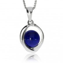 Stříbrný přívěsek - Lapis lazuli
