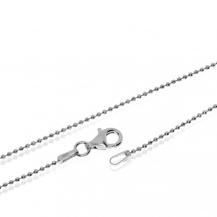 Stříbrný řetízek z broušených kuliček - 45 cm